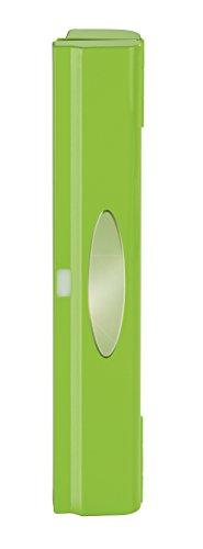 Wenko Folienschneider Perfect-Cutter, praktischer Abroller für Frischhaltefolie und Alufolie, Folienspender aus Kunststoff, 38 x 5,2 x 6,7 cm, hellgrün