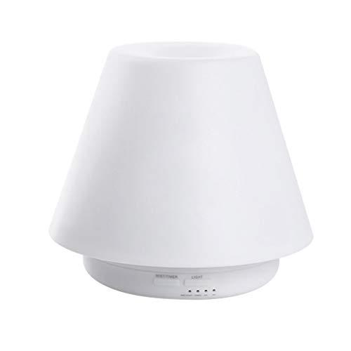 Mini diffuseur d'huiles essentielles, diffuseur d'arôme ménager nuit chambre d'aromathérapie ultrason (Color : Blanc, Size : 17.5 * 16cm)