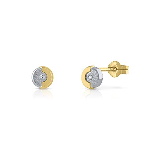 Pendientes Oro de Ley Certificado. Niña/Mujer. Cierre de presión. Medida 4.5 mm. (1-760303)