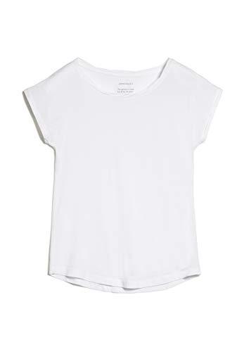 ARMEDANGELS Damen Laale - Laale - M White 100% Baumwolle (Bio) Shirts T-Shirt Kurzarm Rundhals