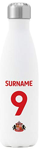 Personalised Sunderland AFC Back Of Shirt Insulated Water Bottle - White