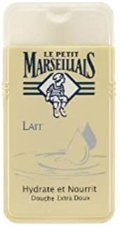 Le Petit Marseillais 3 Bottles of Body Wash Your Choice, French Shower Cream 6 Varieties 250ml (8.4oz) (Lait (Milk))