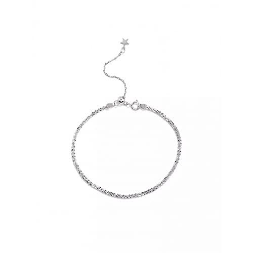 WLLLTY Pulsera para Mujer Pulsera de Moda 925 Cuentas de Estrella de Plata esterlina Pulseras y brazaletes pequeños, Adecuado para Accesorios de Boda para niñas