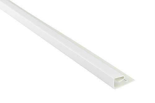 Abschlussprofil für Kunststoffpaneele | weiß | Verkleidung | umweltresistent | PVC | außen | Dachkasten | Soffit | Zubehör | 200 x 4 cm