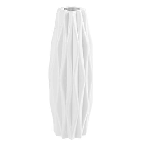 Healifty Bianco Nordico Vaso Moderno e Minimalista Vaso di Fiori Decorazione Contenitore di Fiori Desktop Ornamento Bianco
