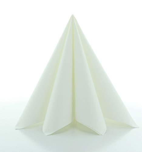 Prime Guest Servietten Weiss | Premium Edition für Hochzeiten und Feiern Airlaid | stoffähnlich | 50er Packung | 50 Stück | 40 x 40 cm | ¼ Falz