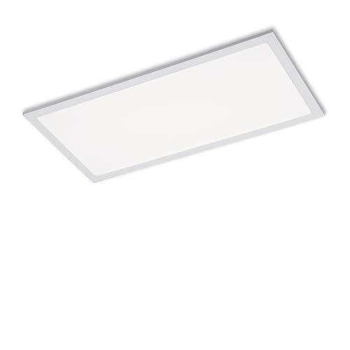 Briloner Leuchten - LED Panel, LED Deckenlampe, 24 Watt, 2.400 Lumen, 4.000 Kelvin, Weiß, 595x295x62mm (LxBxH)
