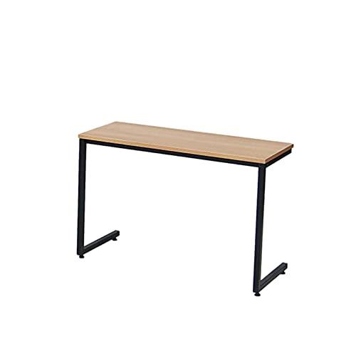 Home Office Workbench, C-förmige Tisch Holz Metall Schreibtisch Studienraum Raumsparende Büromöbel Sofa Side Table Schlafzimmer Nachttisch Für Laptop Büroarbeit, Frühs(Size:90*35*60.5CM,Color:Schwarz)