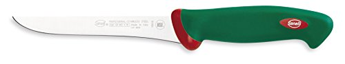 Sanelli Línea Premana Professional,Cuchillo Deshuesador Cm.16,Acero Inoxidable,Verde y Rojo,29.0x3.0x4.0 cm