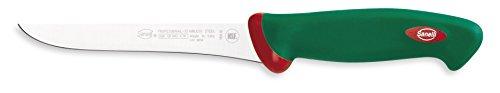 Sanelli 931605 Ceppo Coltelli Leck, Legno, Verde/Rosso, 5 unità