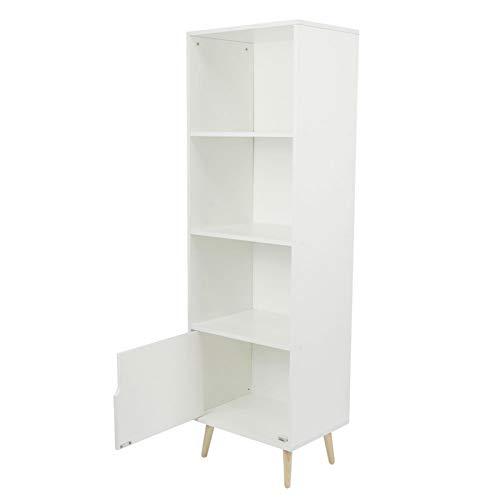 11,8x15,7x51,4 inch Duurzame opslagorganisator 4-laagse boekenkast voor thuiskantoor