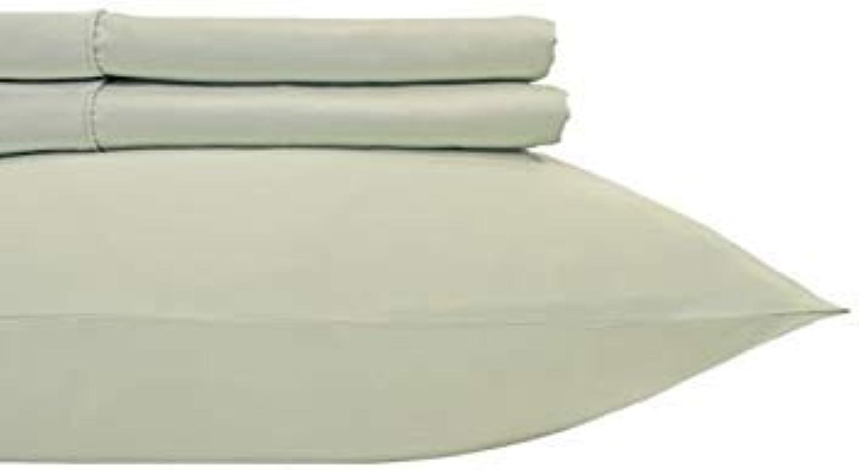 800 Solid 2 pc Pillowcase 100% Cotton Standard-Pillowcases Sage