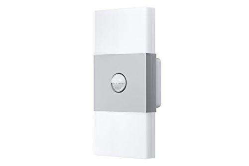 Osram LED Wandlampe, Noxlite, silber, Bewegungsmelder, Dämmerungssensor, Außenleuchte, 6 Watt, Kaltweiß 4008321998422