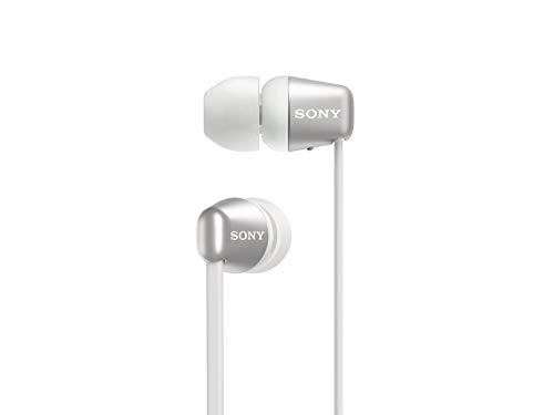 Sony WI-C310 Wireless in-Ear Headset/Headphones with mic for Phone Call, White (WI-C310/W)