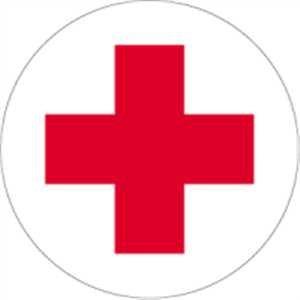 Aufkleber Rotkreuz Folie selbstklebend 10cm Ø (Erste Hilfe, Sanitäter) praxisbewährt, wetterfest