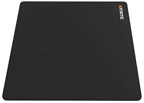 """Fnatic Focus 2 Gaming Esports Mouse Mat (Size SQR - 19.2""""x19.2""""x0.17"""") Water-Resistant with Non-Slip Rubber Base, Smooth Cloth Surface for Computer, PC, Laptop, Square - Black"""