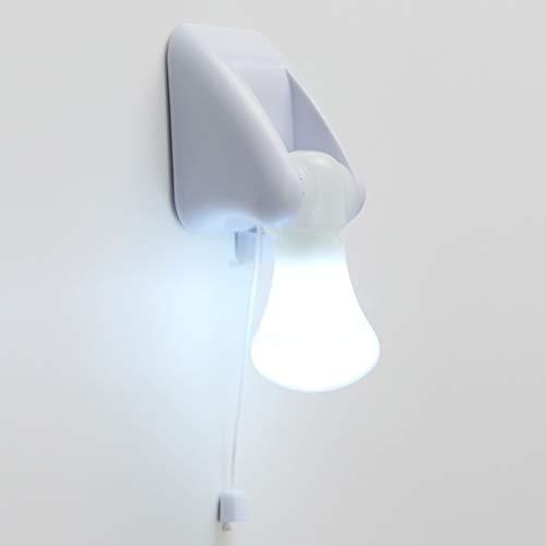 FRCOLOR Cable Portátil Bombilla Led Cable de Tracción Led Luz Lámpara de Gabinete Luz Nocturna con Pilas Luz de Montaje en Pared (Sin Batería)