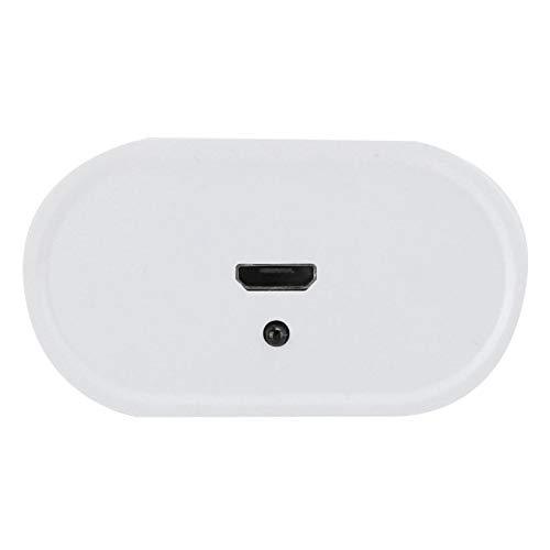 Pelnotac Auricular Bluetooth, mide la temperatura corporal binaural mini auriculares deportivos con pantalla de visualización