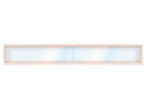 Alsino V100.1A Vitrine Spur HO & N Regal H0 100 cm mit Nuten