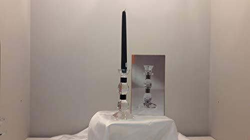 Brandani kandelaar van kristal, 9 x 9 x 20 cm