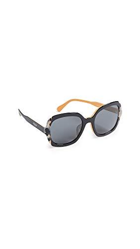 Prada 0PR 16US Gafas de sol, Top Black Yellow/Grey Havana, 54 para Mujer