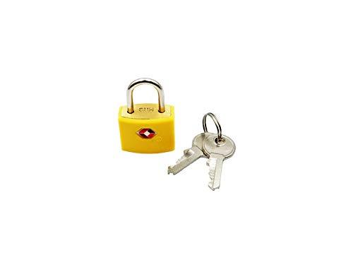 Logic(ロジック) TSA対応 ロックフック型 南京錠 (イエロー) シンプル 小型 鍵 [郵便受け/スーツケース/旅行]