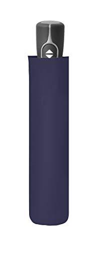 doppler Taschenschirm Fiber Magic Uni – Sehr leicht durch Fiberglas – Auf-Zu-Automatik – Dunkelblau