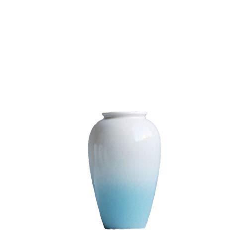 dudifeng Moderne Vase mit Blauer Blume, Keramik, minimalistisch, für den Schreibtisch, dekoratives Handwerk