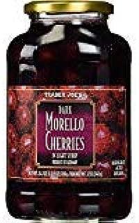 Trader Joe's Dark Morello Cherries In Light Syrup 24.7 oz (Case of 2)