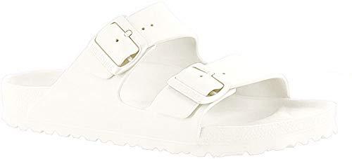 Birkenstock Unisex-Erwachsene Arizona EVA Pantoletten, Weiß (White 43), 38 EU