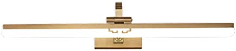 Einfache Persnlichkeit Led Spiegel Scheinwerfer Badezimmer Waschbecken Spiegel Kabinett Lampe Anti-fog Home American Schminktisch Wandleuchte (Gre  53 cm   18 W, 72 cm   24 Watt)