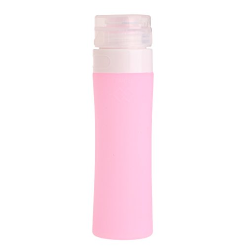 Lunji Flacon Vide Silicone - Flacons de Voyage 40ml pour Shampooing Gel Douche Huile Solaire Lotion (Poudre)