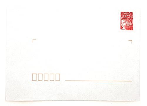 enveloppe timbree leclerc