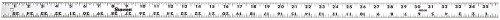 Starrett AR2-36 Anodized Aluminum Straight Edge Rule, 36' Length, 1.125' Width