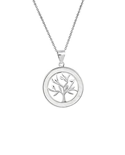 VIDAL & VIDAL Colgante colección Essentials de Plata Motivo árbol de la Vida con nácar