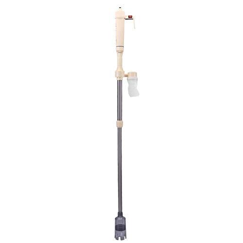 KUIDAMOS Limpiador de Grava para Acuario con batería, Cambiador de Agua al vacío extraíble automático eléctrico para pecera de Acuario