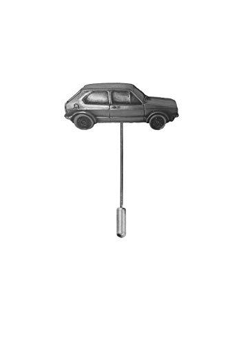 Krawattennadel, klassisches Auto, Golf GTI MK1, ref299, Zinn-Effekt, Motiv auf einer Krawattennadel, Hut, Schal, Kragen, Mantel, Oldtimer