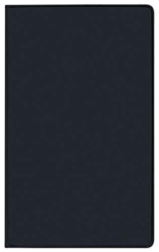 Taschenkalender Pluto geheftet PVC schwarz 2020: Terminplaner mit Monatskalendarium und Uhrzeit. Dünner Buchkalender - wiederverwendbar. 1 Monat 2 Seiten. 8,7 x 15,3 cm