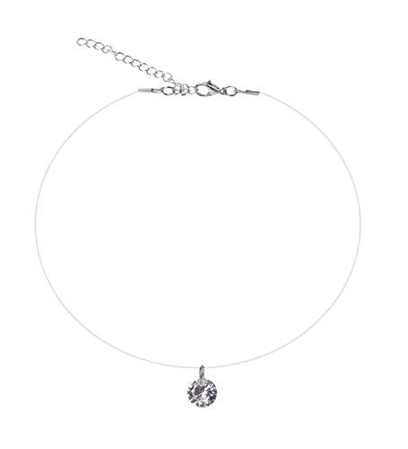 Ketting - steen - kraag - choker - transparant kant - glitter - meisjes - vrouw - elegant - cadeau-idee - sieraden strass
