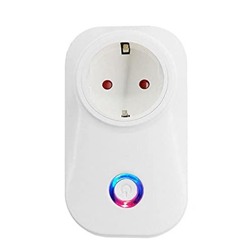 finebrand Inteligente Zócalo WiFi Enchufe Lspa8 De Control Remoto del Interruptor Mini Mide La Energía Eléctrica Consumida Home Energy Monitor Blanco