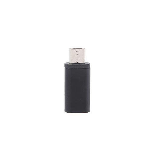 CAREMiLLE USB 3.1 Tipo C Hembra a Micro USB 2.0 Tipo B Adaptador convertidor de Carga de Datos Macho, Adaptador convertidor
