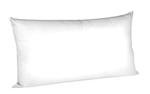 Fleuresse Colours Kissenbezug, Mako Satin, Weiß, 40 x 80 cm