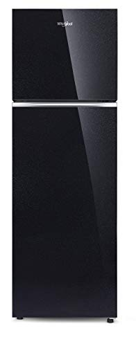 Whirlpool 292 L 2 Star Frost-Free Double Door Refrigerator with Glass Door (NEOFRESH GD PRM 305 2S, Crystal Black)