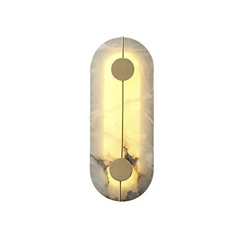 Lámparas De Pared Modernas Conjunto De,Apliques De Pared De Cobre + Mármol,Uso Para Luces De Pared De Fondo,Lámparas De Pared Del Dormitorio Y Lámparas De Pared De La Sala De Estar-Cobre 16*42cm