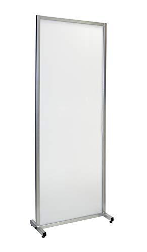 Hostelnovo - Mampara de policarbonato celular - Protección opaca - Mampara con estructura metálica - 1800 x 1000 mm
