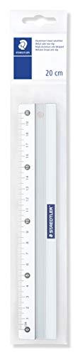 Staedtler Règle en aluminium anti-dérapante de 20 cm, Livrée sous étui plastique, 563 20