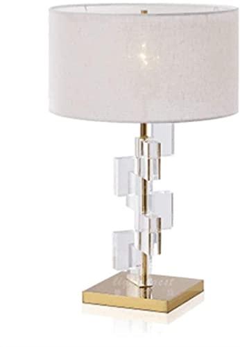 Lámpara de escritorio moderna de diseño post-moderno minimalista sala de estar dormitorio vidrio creativo cuadrado acrílico tridimensional lámpara de mesa