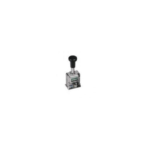 Timbro numeratore automatico in acciao 6 cifre carattere 5mm