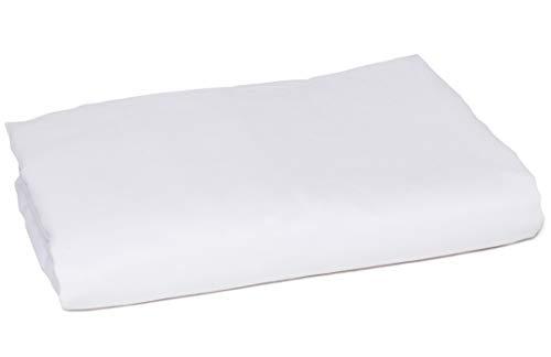 American Pillowcase Flat Sheet, 100% Percale Egyptian Cotton, 400 Thread Count, Twin/Twin XL, White