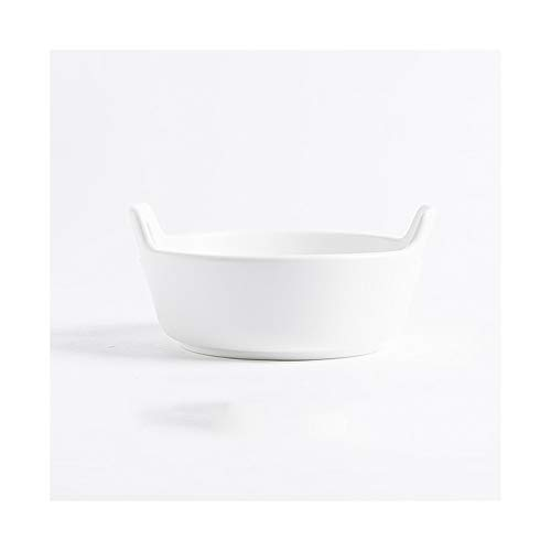 ZLSP Plato de Arroz binaural, cerámica hornear Bowl, horno, platos, vajilla Hogar ZLSP (Size : M)